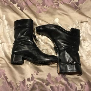 Cole Haan black leather women's boots